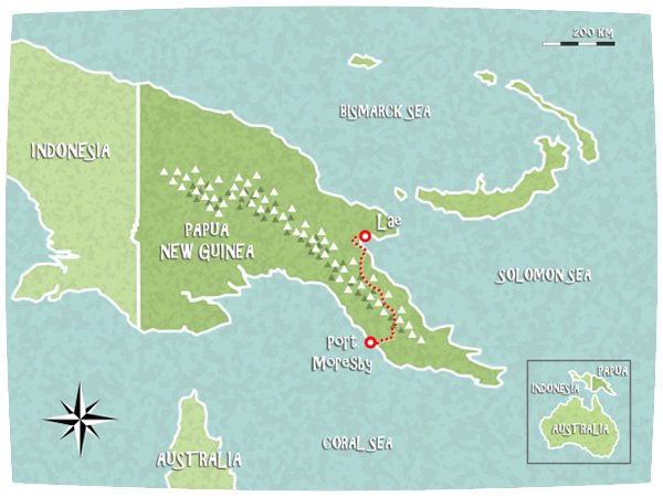 Papua turtle trails 500 km on foot for emergency for Nuova guinea pianta