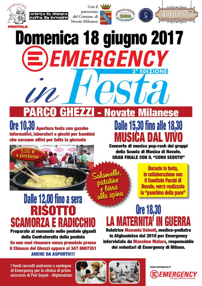 Scuola Di Musica Novate Milanese.Iniziative Milanesi Emergency In Festa Al Parco Ghezzi Di Novate