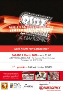 Quiz night for Emergency